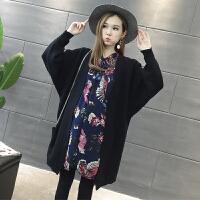 2017宽松连衣裙开衫两件套潮妈秋冬款外套孕妇套装秋装时尚款