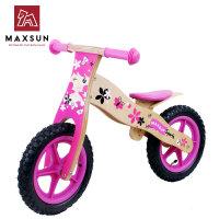 儿童平衡车木制学步车珍妮童车自行车儿童童车滑步车 公主蝴蝶车(充气胎)