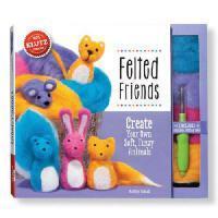 Felted Friends 儿童手工书:自制毛绒小动物 英文原版 亲子互动书籍 Create Your Own Sof