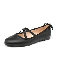 如熙2017秋季新款单鞋芭蕾鞋平底鞋女鞋圆头甜美休闲低帮鞋子女