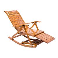 竹摇摇椅家用大人阳台休闲懒人躺椅折叠午睡椅老人便携靠背逍遥椅
