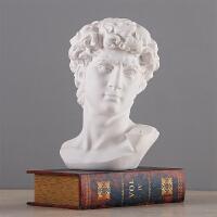欧式大卫石膏艺术雕像工艺品摆件家具装饰品玄关客厅办公室摆设