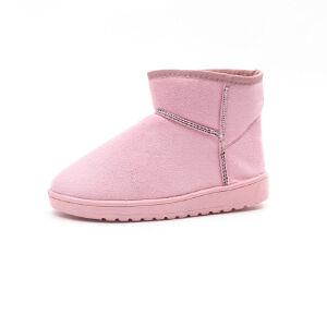 WARORWAR新品YM130-8-7冬季韩版磨砂绒平底舒适女士短靴雪地靴