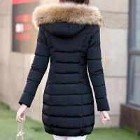 女中长款冬装修身大码外套棉袄棉衣女潮