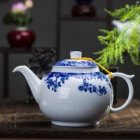 茶壶陶瓷大号大码家用泡茶茶具单壶白色凉水壶加厚防暴景德镇制