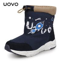 【1件3折价:98元】UOVO冬季新款儿童雪地靴男童保暖靴子女童加厚棉鞋加绒 科尔马