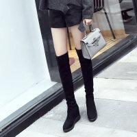 过膝长靴女秋冬加绒2018韩版高跟高筒靴百搭显瘦内增高长筒靴棉鞋