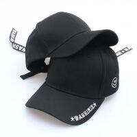 夏天新款字母棒球帽 金属环飘带拉链装饰个性嘻哈帽 男女潮帽子 可调节