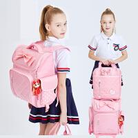 儿童书包小学生女1-3-6年级减负轻便拉杆爬楼减负护脊防水双肩包