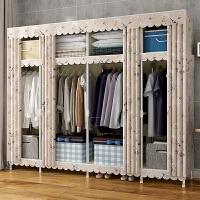 布衣柜男生 卧室潮流组装衣柜 简易铁架子布衣柜1.2m宽活动