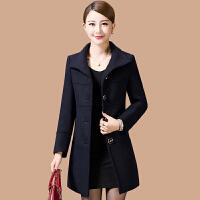 中老年女装秋冬装妈妈羊毛呢外套40-50岁中长款中年羊绒呢子大衣 XX