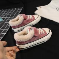 儿童棉鞋女童2018新款冬季加绒宝宝冬鞋保暖儿童冬季鞋男童二棉鞋 粉色02