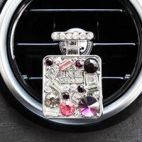 汽车香水车载车用空调出风口夹香水瓶香薰装饰镶钻用品内饰