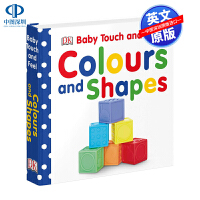 DK出版 进口英文原版绘本 Baby Touch and Feel Colours and Shapes 纸板书 宝宝触