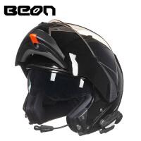 摩托车头盔男女带蓝牙耳机揭面盔四季全盔覆式机车个性酷夏季 (配带蓝牙功能)