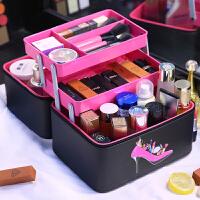 3件7折化妆包大容量韩国手提多层化妆箱护肤品少女心收纳旅行洗漱包