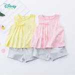 【3折价:59.7】迪士尼Disney童装 女宝宝背心套装夏季清凉新品女孩上衣裤子两件套192T895