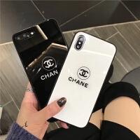 iphone xs max手机壳女款苹果8plus硅胶玻璃7p防摔6s新款xr潮牌软