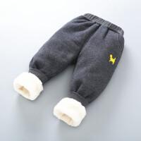 男女童加绒加厚裤子保暖裤宝宝运动裤儿童棉裤新品