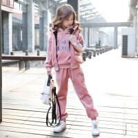 女童金丝绒三件套2018新款加厚冬装儿童女卫衣马甲套装抖音同款潮