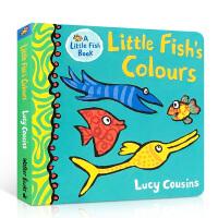 【全店300减100】英文原版 各种颜色的小鱼 Little Fish's Colours 儿童英语启蒙颜色认知绘本翻翻