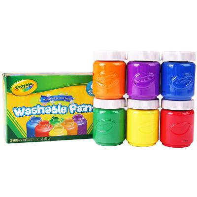 当当自营Crayola 绘儿乐 6色幼儿可水洗颜料 可做手指画 54-1204【当当自营】美国进口绘画品牌 安全无毒 可做手指画