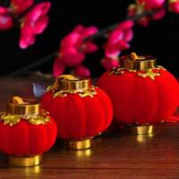 灯笼 植绒小红灯笼 塑料小灯笼串 婚庆小灯笼 中秋节挂饰