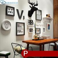 照片墙相框组合 实木相片照片画框组合相框客厅简约卧室简约挂画田园 多框