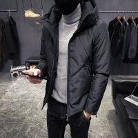 №【2019新款】穿着不跑毛的羽绒服男2018新款冬季青年轻薄白鸭绒加厚男士冬装潮短款帅气外套