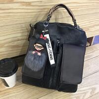 时尚女包手提包2017新款复古百搭双肩包韩版多功能单肩包斜挎包潮SN0528