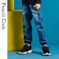 【3件2折:69】铅笔俱乐部童装2019秋季新款男童牛仔长裤中大童长裤儿童裤子