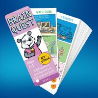 英文原版Brain Quest Preschool 4-5岁 大脑任务智力开发卡片 学前小学生全科练习获奖系列 益智早