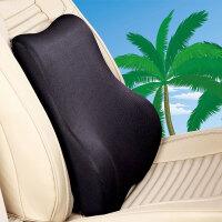 汽车腰靠垫记忆棉头颈枕套装车内用靠背座椅护腰部托腰枕四季通用