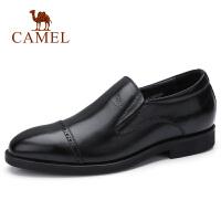 【下单立减120元】camel骆驼男鞋 秋季新款男士内增高皮鞋牛皮商务办公正装皮鞋