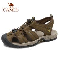 camel 骆驼男鞋2018夏季新款凉鞋男休闲鞋 包头沙滩鞋户外凉鞋