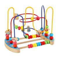 儿童绕珠积木一岁宝宝玩具1-2-3周岁婴幼儿益智串珠6-12个月男孩