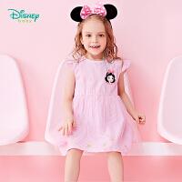 【3件3折到手价:57.9】迪士尼Disney童装 小飞袖公主连衣裙夏季新品女童网纱裙甜美裙子
