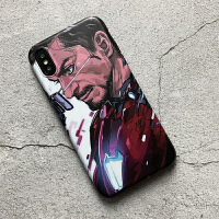 复仇者联盟钢铁侠苹果X手机壳iphone7/8plus磨砂软套max漫威xr潮6