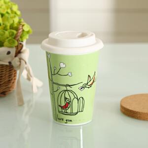 shunxiang 顺祥 陶瓷 12.5安士无柄护边硅胶杯