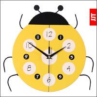 卡通挂钟客厅个性创意时尚静音时钟 儿童卧室装饰挂钟钟表 12英寸(直径30.5厘米)