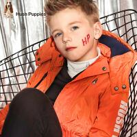 【3.5折价:209.65元】暇步士童装冬季新款男童加厚外套时尚简约厚风衣儿童厚外套