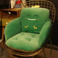 小学一年级靠垫坐垫一体办公室坐垫靠垫一体办公室久坐椅子座椅屁股凳子椅垫厚垫子靠背座垫地上 60×42×42cm(底部防