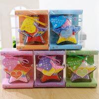 小五角星祝福语玻璃摆件星星许愿瓶创意生日圣诞节礼物送同学老师