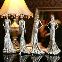 欧式时尚模特美女人物创意家居摆设树脂工艺品服装店装饰品摆件