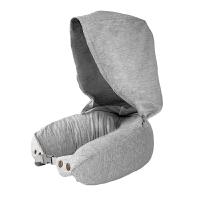 u型枕带帽护颈枕乳胶可折叠颈椎枕旅行枕飞机u形枕脖子午睡枕