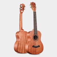 2018新款 23寸21寸尤克里里古典琴头原木色手工制作复古小吉他乐器