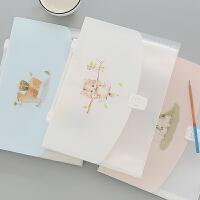 韩国小清新多层文件夹学生用简约13入风琴包创意手提文件袋试卷夹