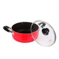 复底煎锅汤锅两件套 炖锅 厨房煎炒锅具 电磁炉通用套装锅