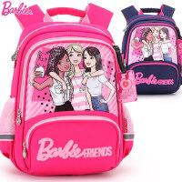 芭比公主小学生书包1-2年级女童韩版女孩减负护脊儿童双肩背包10