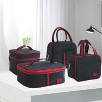 饭盒袋长方形三格四格学生上班族带饭的饭盒袋子便携手提包便当袋